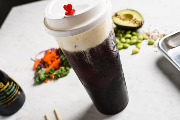 Black Coffee Milk Foam