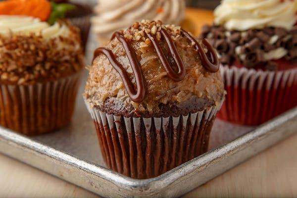 Gourmet German Chocolate Cupcake