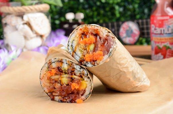 Shoyu Tuna Kimchi Poke Burrito