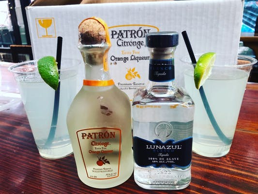 To-Go Margarita Package - Patron Orange Liqueur & Lunazul Blanco Tequila