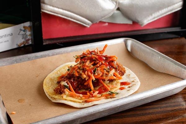 Asian Fried Chicken Taco