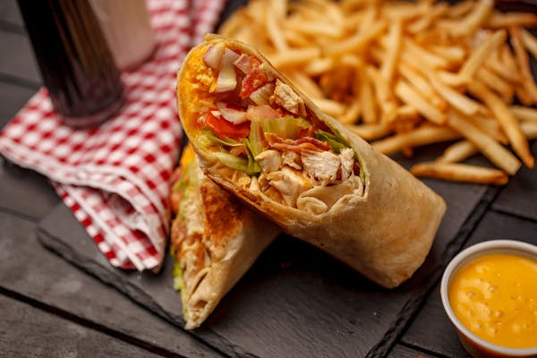 Grilled or Fried Chicken Club Wrap