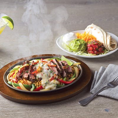 Loaded Sirloin Steak Fajitas