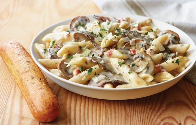 Creamy Penne Pasta with Sliced Prime Rib