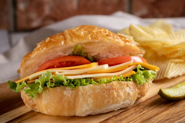 Vegetable & Cheese Croissant Sandwich