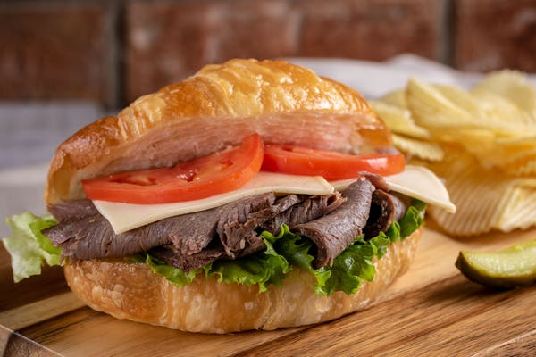 Roast Beef & Cheese Croissant Sandwich
