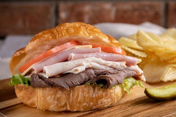 Triple Club Croissant Sandwich