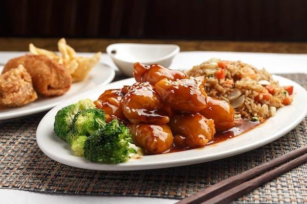 C30. Sesame Shrimp Platter