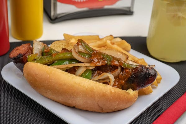 Chili Polish Sausage Dog