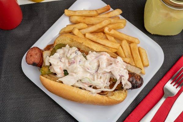 Slaw Polish Sausage Dog