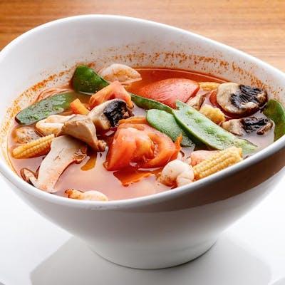 Tom Yum Mee Hoon with Seafood