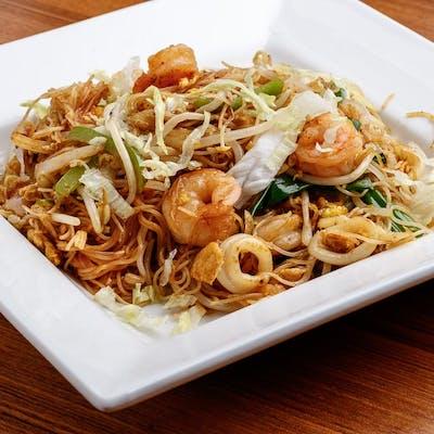 Singapore Stir-Fried Rice Noodles