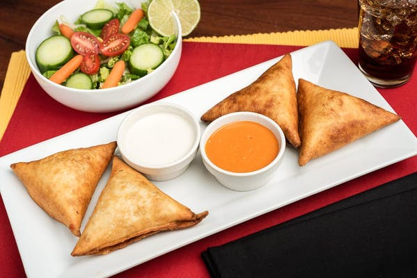Beef with Four-Cheese Mexican-Style Samosa Meal