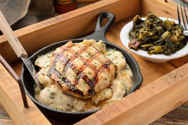Pork or Chicken au Gratin