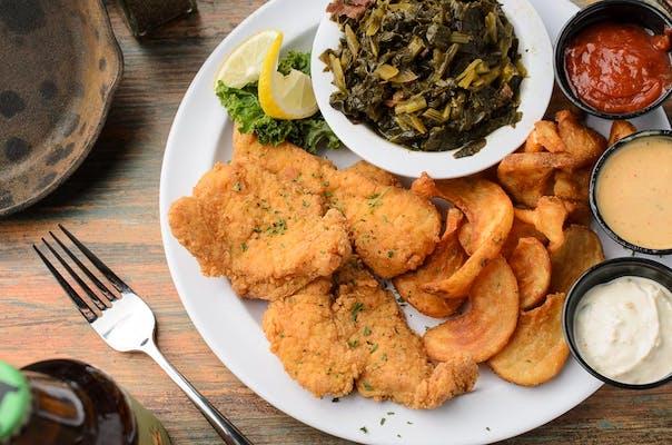 Cajun Fried Fish or Shrimp with Cory Sauce