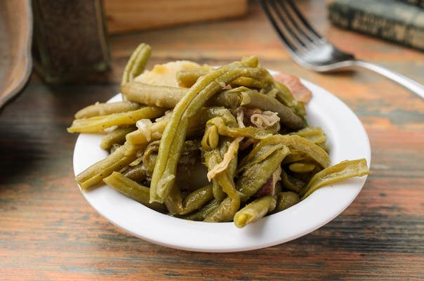 Smothered Green Beans & Spring Potatoes