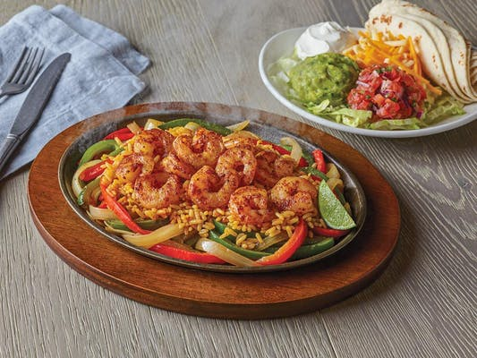 Unsmothered Shrimp Fajitas