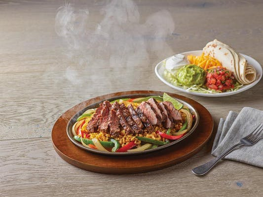 Unsmothered Sirloin Steak Fajitas