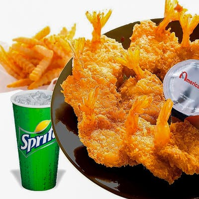 (4 pc.) Fried Shrimp Combo