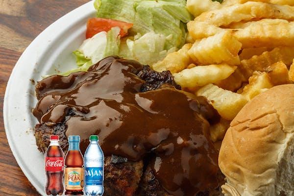 Hamburger Steak Coca-Cola Combo