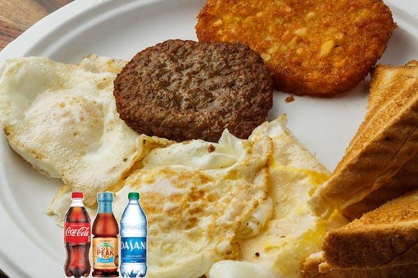 (3) Egg Breakfast Platter Coca-Cola Combo