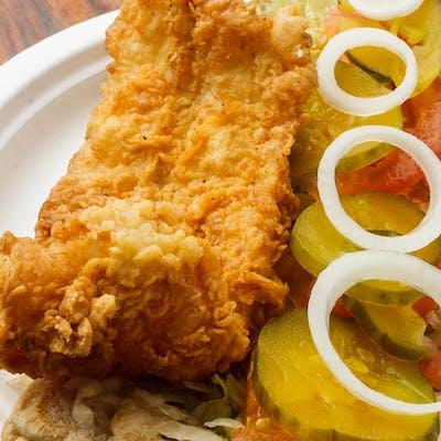 #6 Shrimp, Oyster & Fish Po-Boy Combo