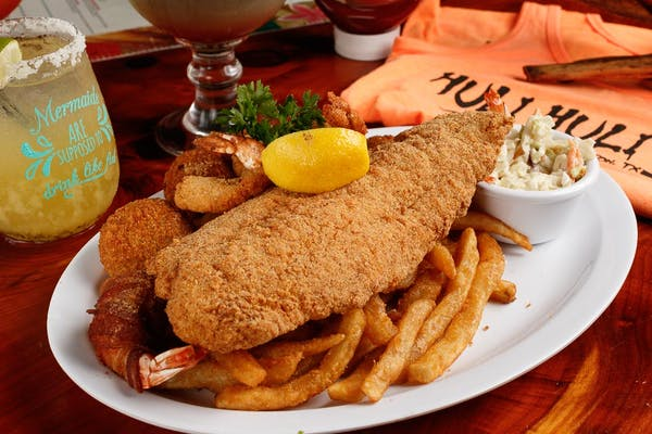 Huli's Fried Seafood Platter