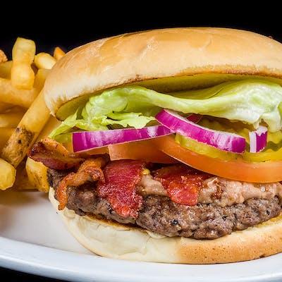 The Bean & Bacon Barn Burger