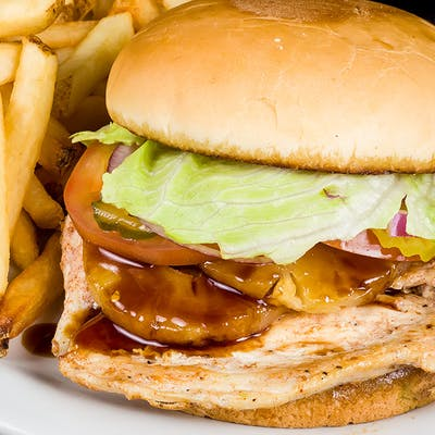 The Chicken Teriyaki Barn Burger