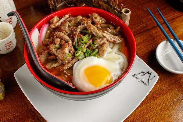 Beef Nabeyaki Udon Soup