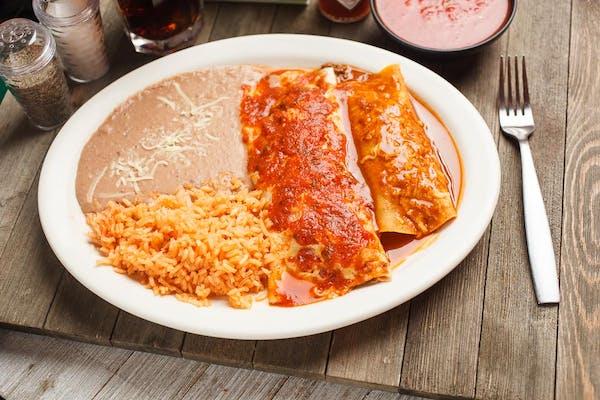Burrito, Enchilada, Rice & Beans