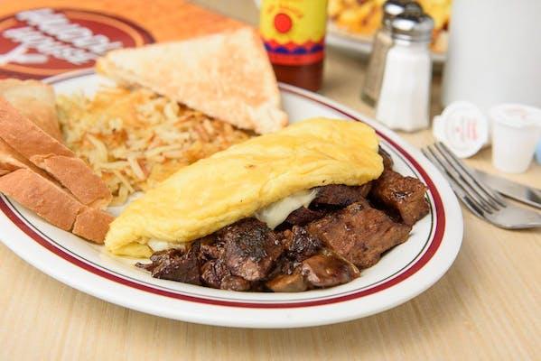 Prime Rib Tips Omelet