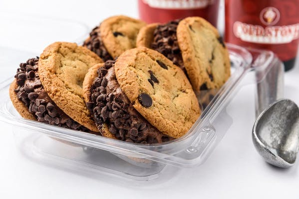 Kiss N' Tell Chocolate Ice Cream Cookie Sandwiches