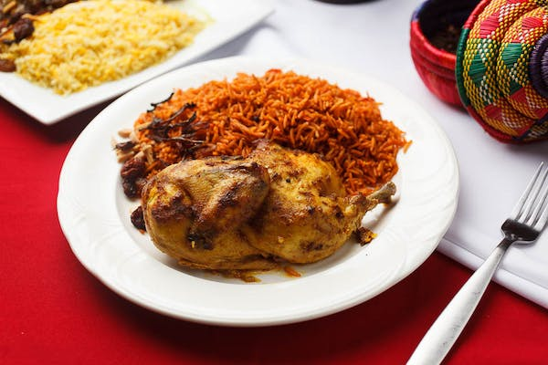 Awaze Chicken with Kabssa Rice