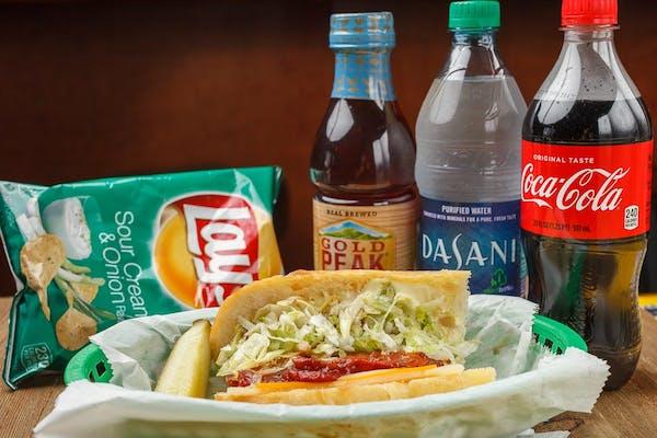 Sausage Po-Boy Coca-Cola Combo