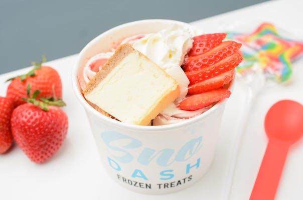 Strawberry Cheesecake Rolled Ice Cream