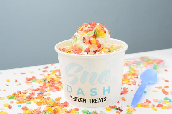 Fruity Pebbles Rolled Ice Cream
