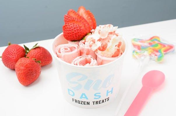 Strawberry Rolled Ice Cream