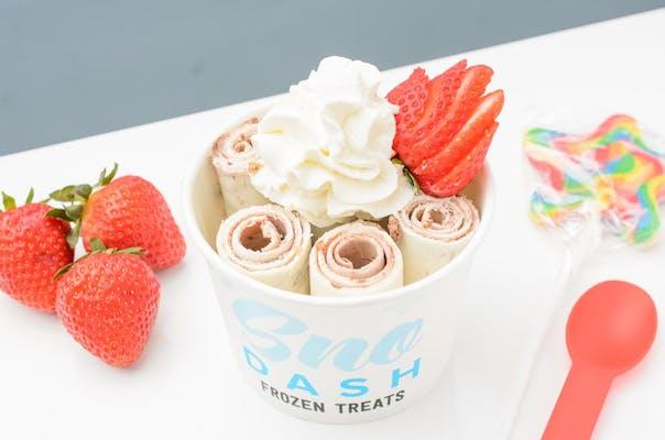 Strawberry & Nutella Rolled Ice Cream
