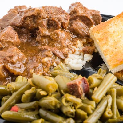 Smothered Steak Dinner