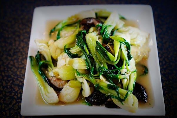 V2. Bok Choy with Sliced Black Mushroom