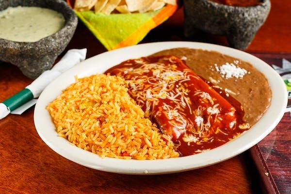 Lunch Enchilada Plate