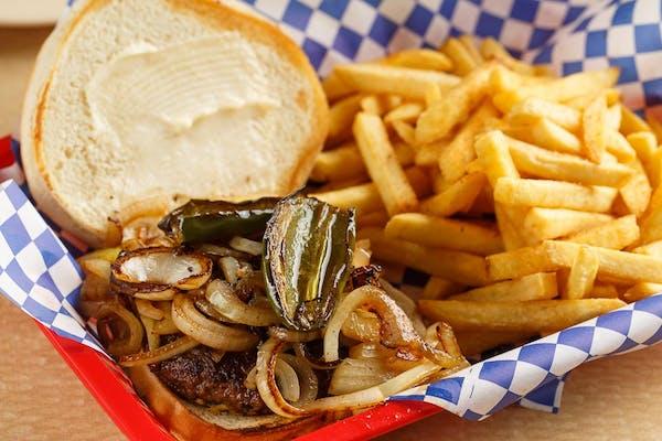 Cajun-Spiced Jalapeño Burger & Fries
