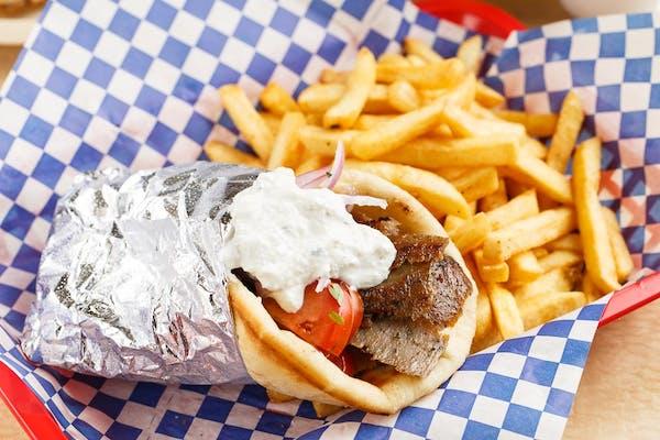 Gyro Sandwich & Fries