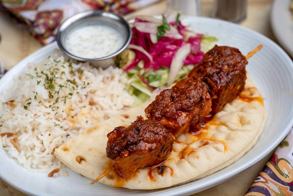 21. Spicy Chicken Shish Kebab Platter