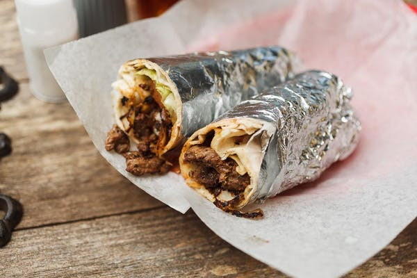 Lamb Steak Pita Roll-Up