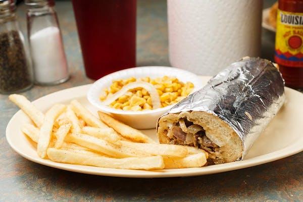 3. Philly Cheesesteak Sandwich