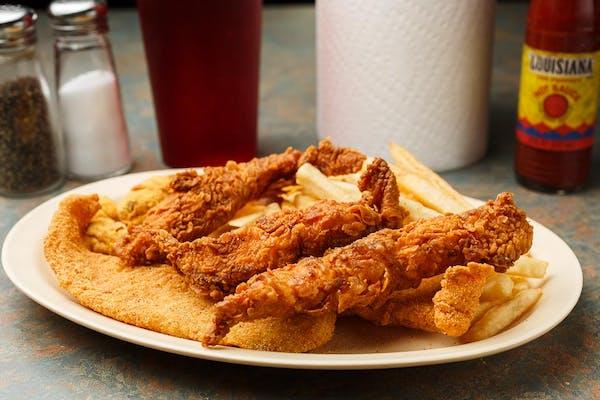 28. Chicken (3 pc.), Shrimp (3 pc.) & Fish (3 pc.)