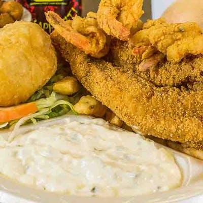 Fried Fish & Shrimp Dinner