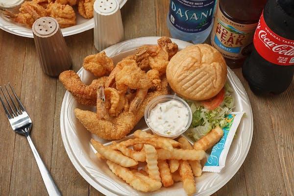 (2 pc.) Fish & (6 pc.) Shrimp Dinner Coca-Cola Combo